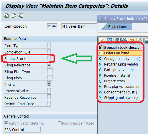 Special Stock Indicators in SAP SD